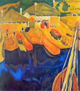 Τμήματα Αποφοίτων Ανθρωπιστικής - Επιλέξαμε πίνακα Έλληνα ζωγράφου. Απεικονίζει βάρκες.