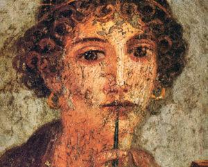 Σαπφώ, Fresco από την Πομπηία που θεωρείται ότι αποδίδει τη Σαπφώ