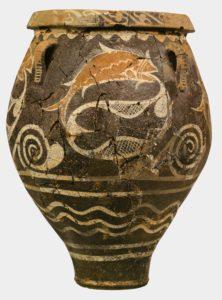 Προσωκρατική Σκέψη: Επιλέξαμε ένα αγγείο από τις Καμάρες της Κρήτης. θεωρούμε ότι αυτή η εικόνα αποδίδει την πολυσημία της αρχαικής σκέψης, όπως τη συναντάμε στους Προσωκρατικούς φιλοσόφους