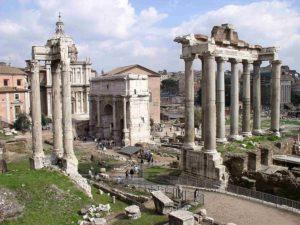 Συντακτικό των λατινικών - Εικόνα από την αρχαία αγορά της Ρώμης