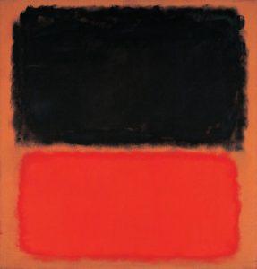 τέχνη για τα παιδιά - Πίνακας με τον τίτλο black on orange