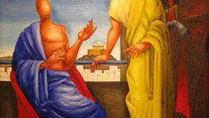 Ο Μύθος της Γραφής στον Φαίδρο: Για το κείμενό μας επιλέξαμε ένα πίνακαι του εγγονόπουλου βασισμένο στον ομώνυμο μύθο