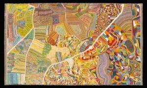 Τα Μονοπάτια των Τραγουδιών του Bruce Chatwin: Επιλέξαμε πίνακα Αβορίγινα καλλιτέχνη που απεικονίζει χάρτη με τα μονοπάτια των τραγουδιών.
