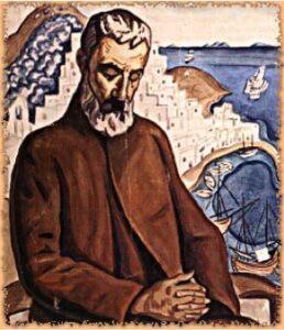 Φώτα ολόφωτα του Αλέξανδρου Παπαδιαμάντη: Εικόνα με Βυζαντινή τεχνοτροπία του Σκιαθίτη λογοτέχνη